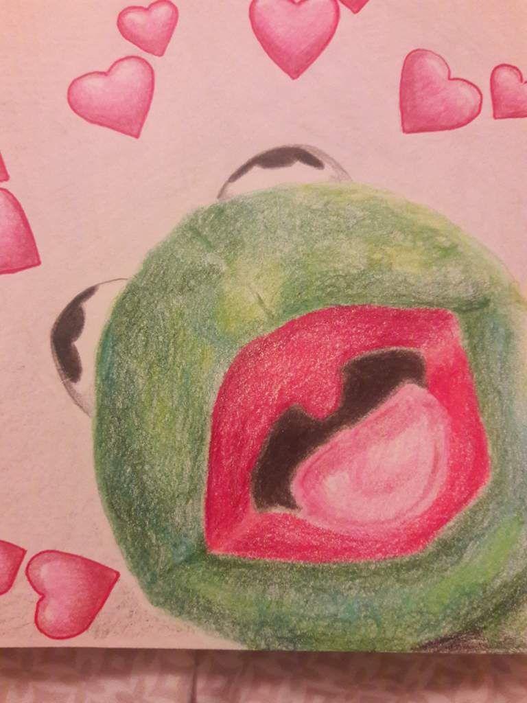 Kermit Meme Painting : kermit, painting, Creation:, Painting, Kermit, Heart, Drawing