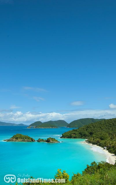 Saint John, US Virgin Islands. No passport required for US citizens ; )