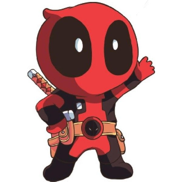 Chibi Deadpool Wade Wilson ❤ Liked On Polyvore Featuring Marvel, Deadpool,  Characters, Draw And Filler