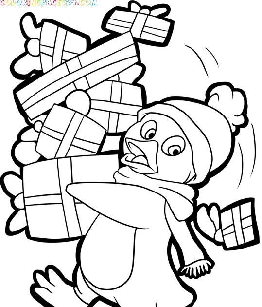 Free Printables: Santa and Christmas-Themed Coloring Pages