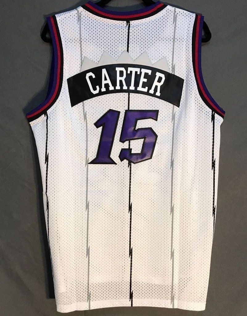 Men 15 Vince Carter Jersey White Toronto Raptors Throwback Swingman ... e12614d6d