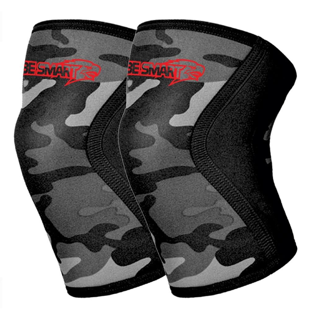 Knee Sleeve Pair Powerlifting Weightlifting Patella Support Brace Protector Camo | eBay