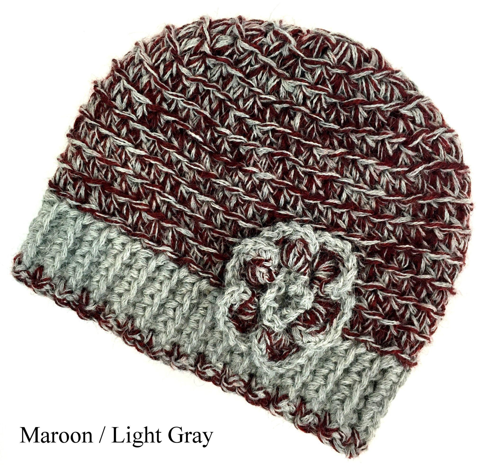 Alpaca Knit Hat with Flower - Montana Made Custom Hats