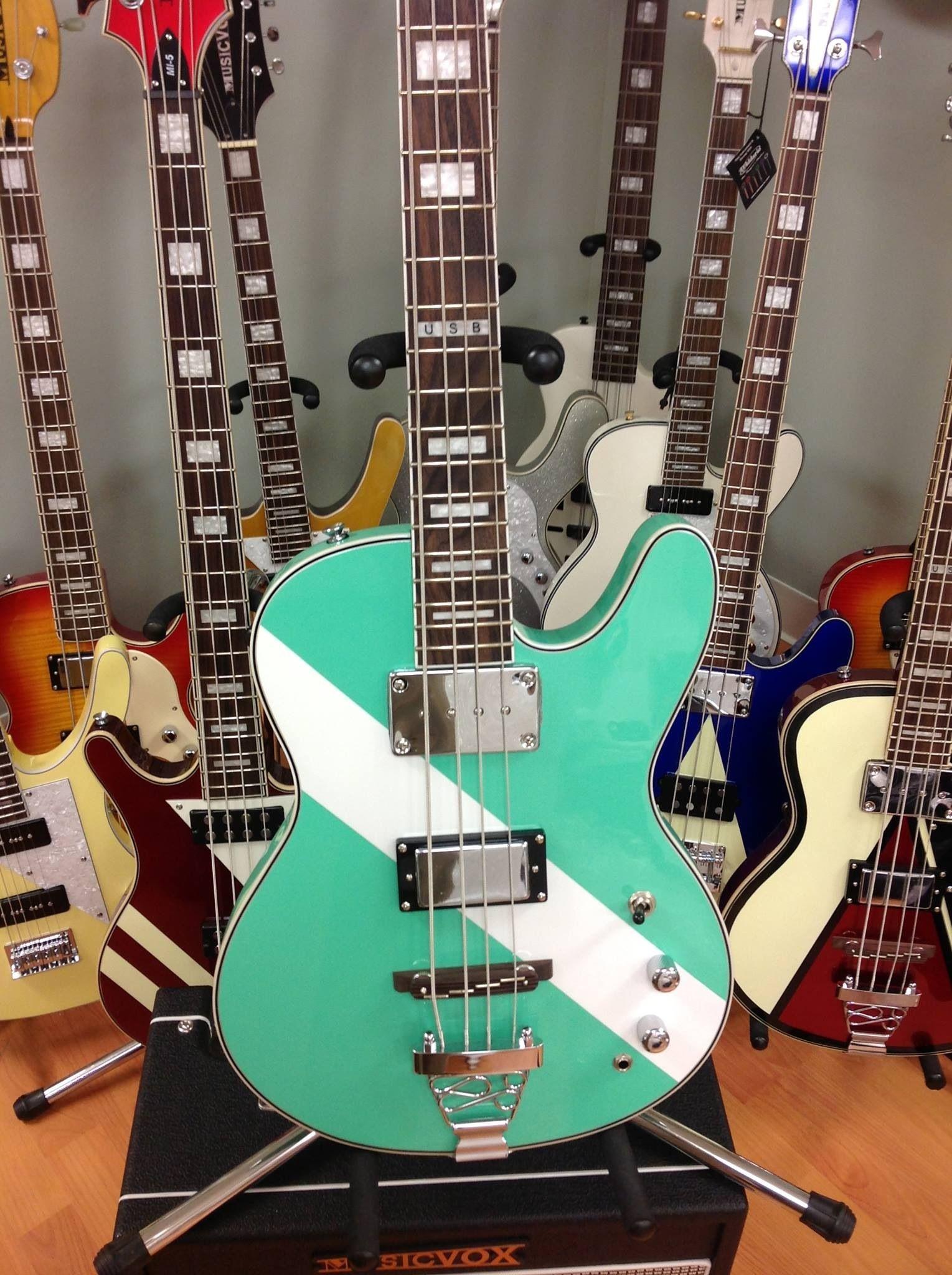 "Musicvox 12 String Space Cadet Bass Allen Woody Cheap Trick 34""Scale Explosive Musicvox Musicvox Guitars & Basses"