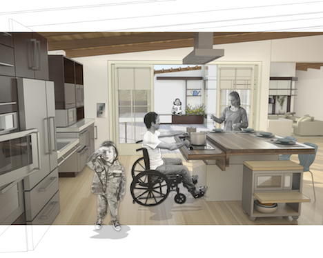 Core77 Architecture For Recovery Ideo And Michael Graves Design Gorgeous Disabled  Kitchen Design Design Inspiration