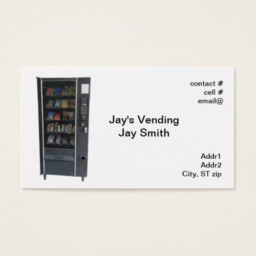 Snack vending machine business card business cards pinterest snack vending machine business card colourmoves