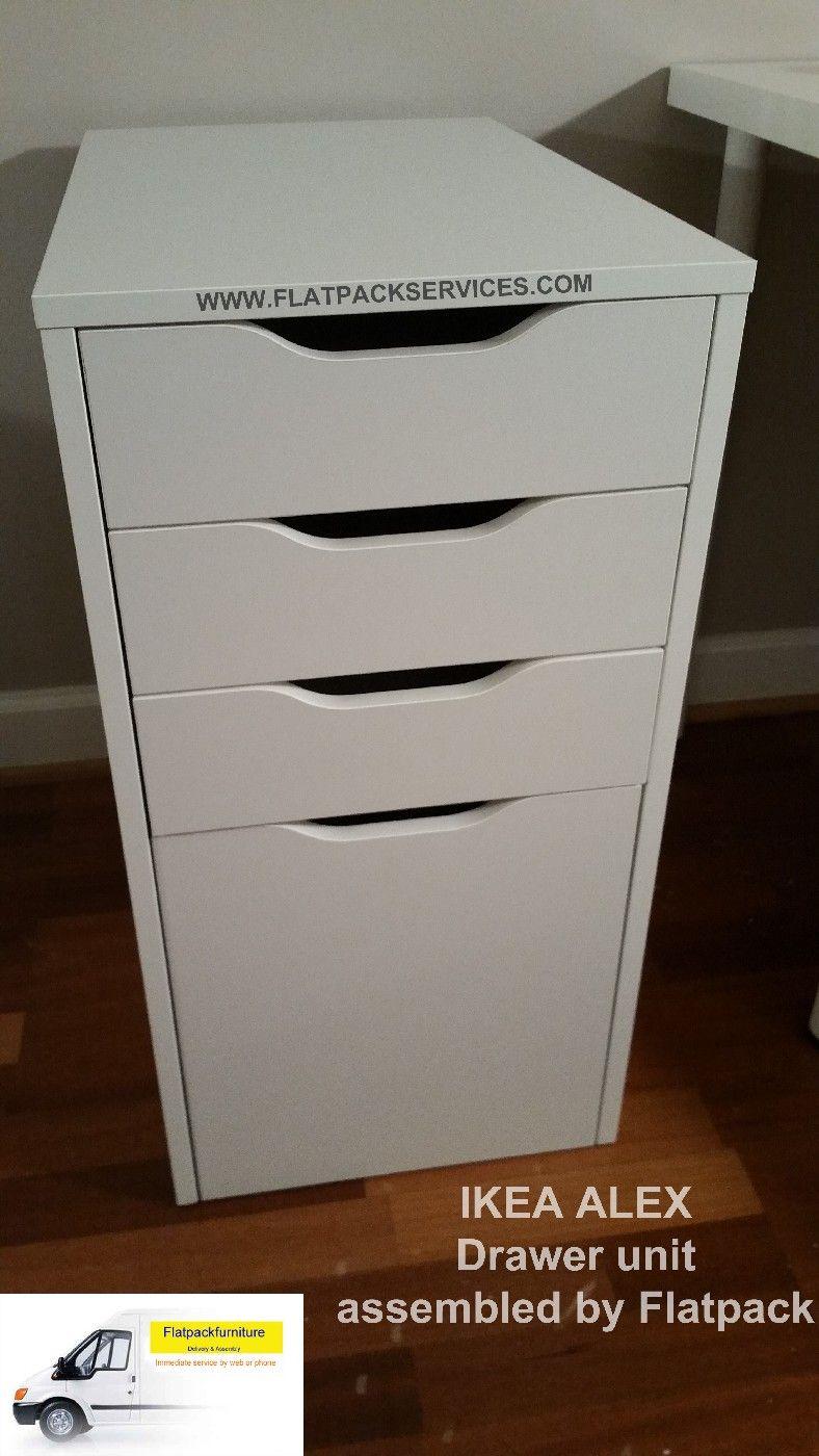 IKEA ALEX Drawer Unit/drop File Storage Article Number: 202.911.21  Delivered U0026
