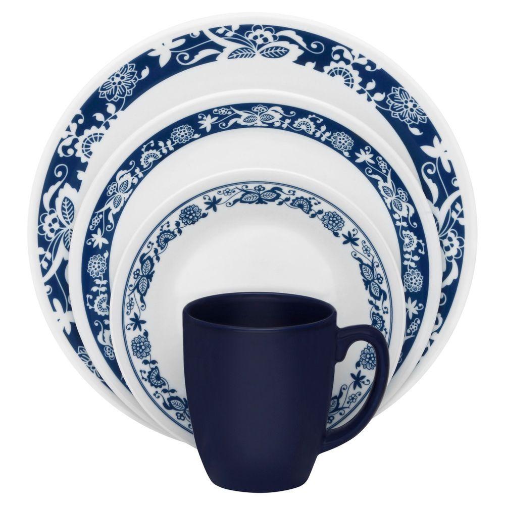 Corelle Livingware True Blue 32-Piece Dinnerware Set for 8