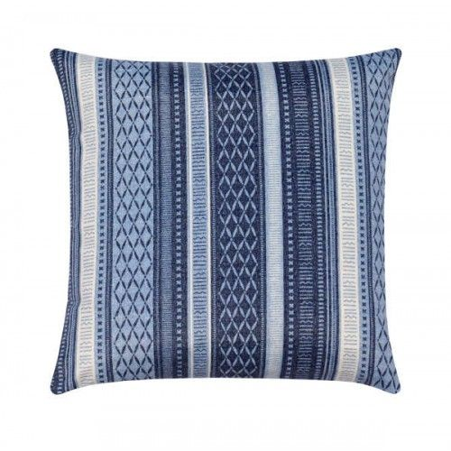 Long Weekend Indigo Blue Stripe Outdoor Pillow | Striped ...