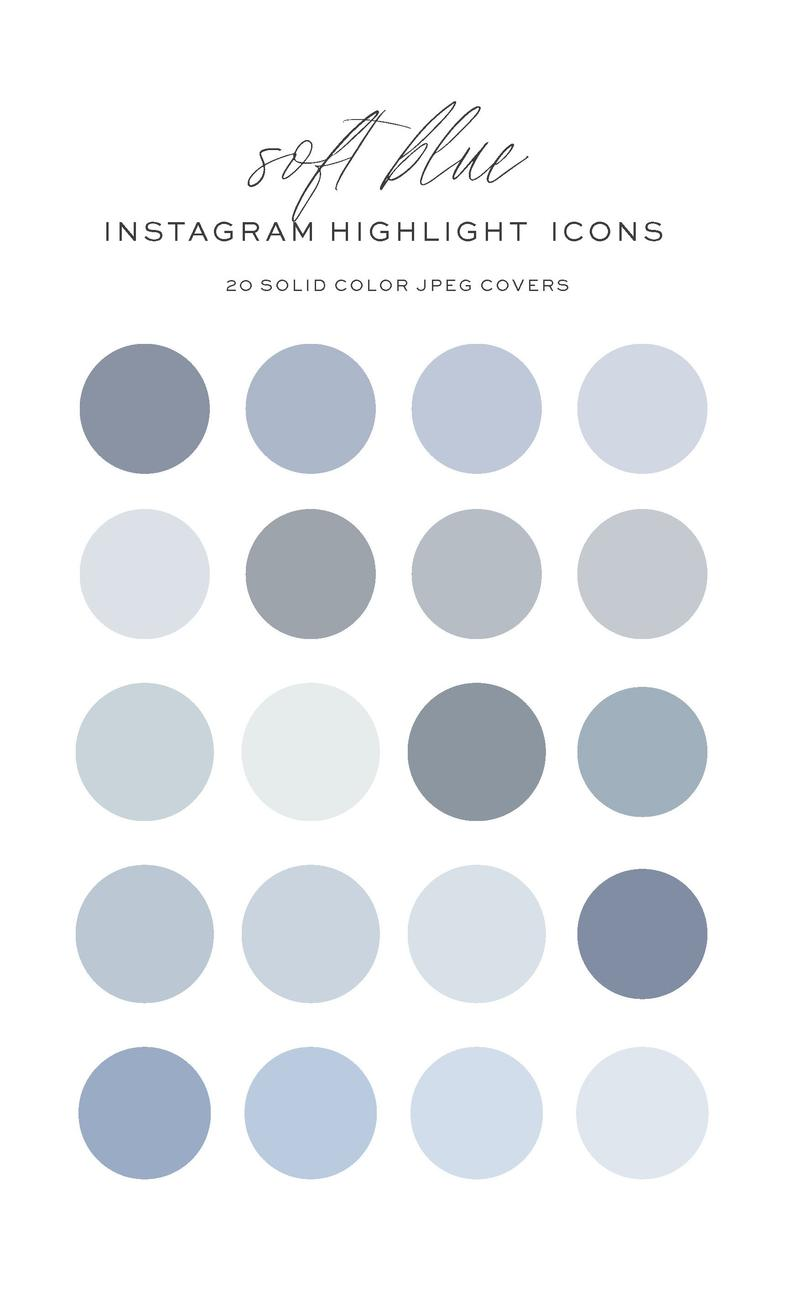 Light Blue IG Covers, Instagram Story Highlight Co
