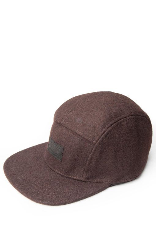 88e09edd0 Solid Brown Wool 5 Panel Hat | Accessories | Panel hat, 5 panel hat ...
