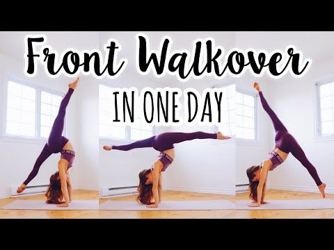 how to do a front walkover in one day  youtube in 2020