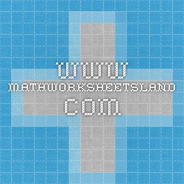 www.mathworksheetsland.com | School | Pinterest | School