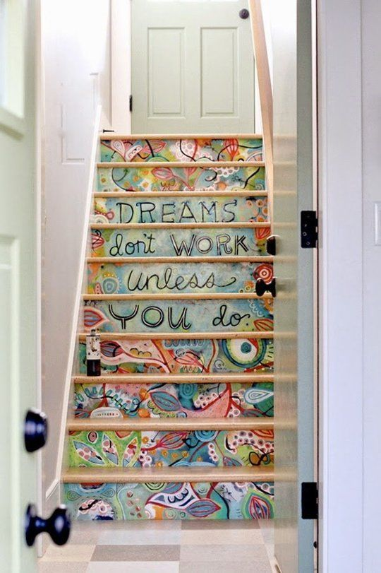 Step It Up 10 Creative Ways To Paint Your Stairs Painted Stairs Stairs Stair Art