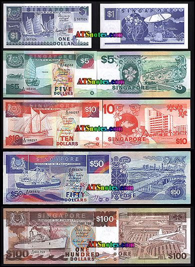 Sigapore Currency Singapore Banknotes Singapore Paper Money