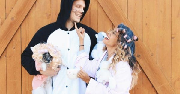 16 Hilarious Halloween Costume Ideas for Couples via @PureWow New - ridiculous halloween costume ideas