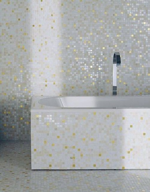 26 White Glitter Bathroom Floor Tiles Ideas And Pictures Mosaic Bathroom Tile Tile Bathroom Gold Tile