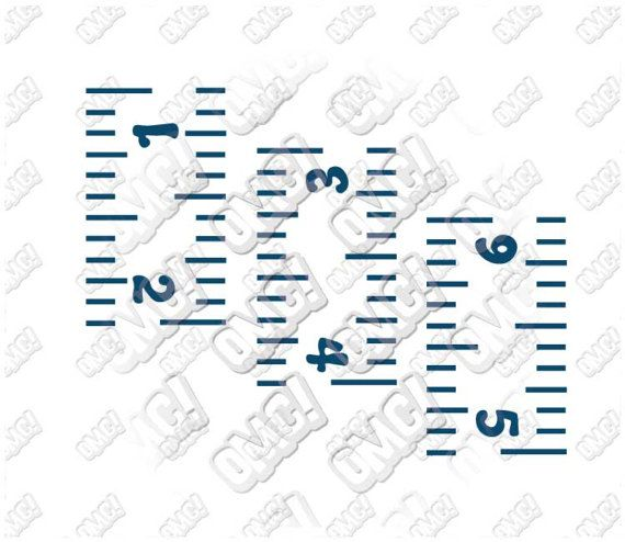 Ruler Growth Chart Template Svg Dxf Eps Jpeg Format Layered Cutting