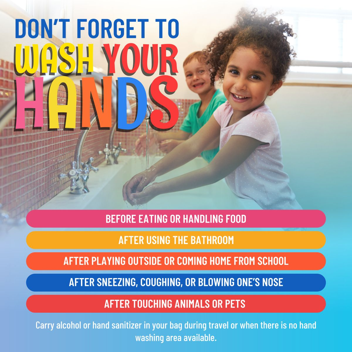 Don T Forget To Wash Your Hands Hygiene