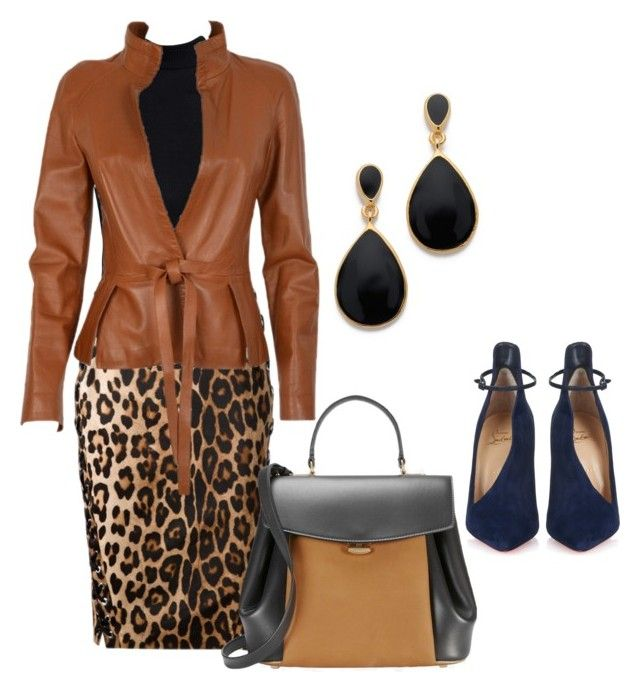 Monday:: Meeting with the bosses today by bsimontwin on Polyvore featuring Boohoo, Altuzarra, Christian Louboutin, Nina Ricci and Kenneth Jay Lane