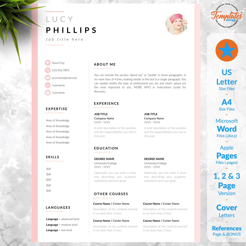 Modern Resume Template CV Template + Cover Letter