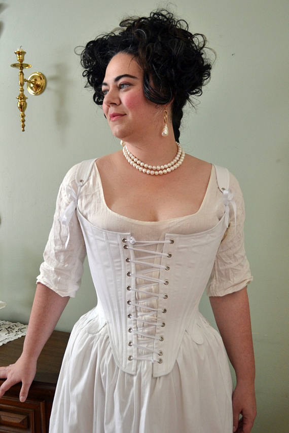 Front Lacing 1780 S Stays In Plus Sizes Historical Historische