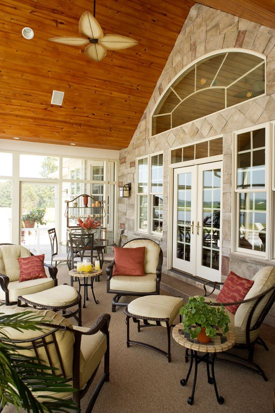 screened in porch   fireplace   Google Search   sunroom    screened in porch   fireplace   Google Search   sunroom   Pinterest   Corner Fireplaces  Porches and Decks