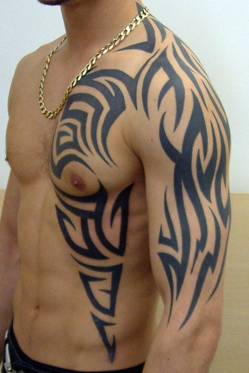 44ea96fb7 Pretty Cool Mens Side And Arm Tribal #Tattoo | Tribal Tattoos For ...