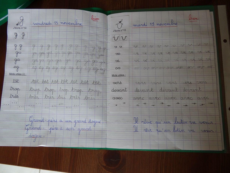 Très cahier écriture modèle collé marge | grammaire | Pinterest  FO63