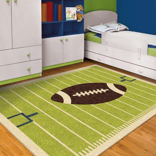 Childrens Football Bedroom Ideas: 15 Fascinating Kids Football Rug Image Inspirational