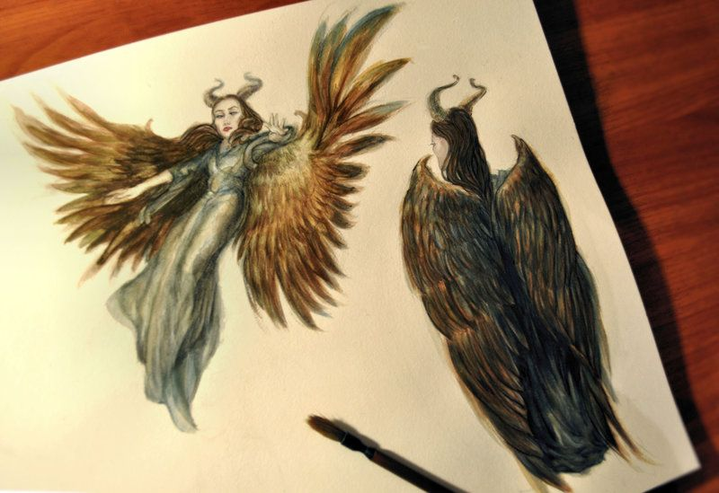 Maleficent and wings by Ironbluebell on DeviantArt