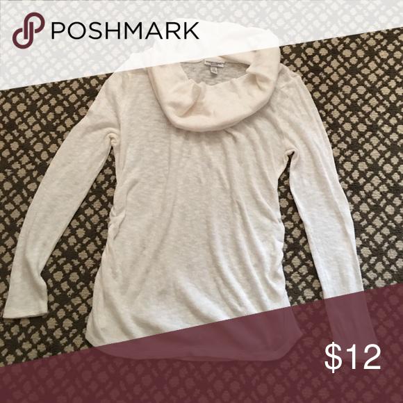 Liz Lange Cream Rouged Maternity Sweater Size L Excellent Condition Liz Lange Tops