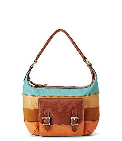 Fossil Tate Patchwork Hobo Bag #Dillards (smaller version)