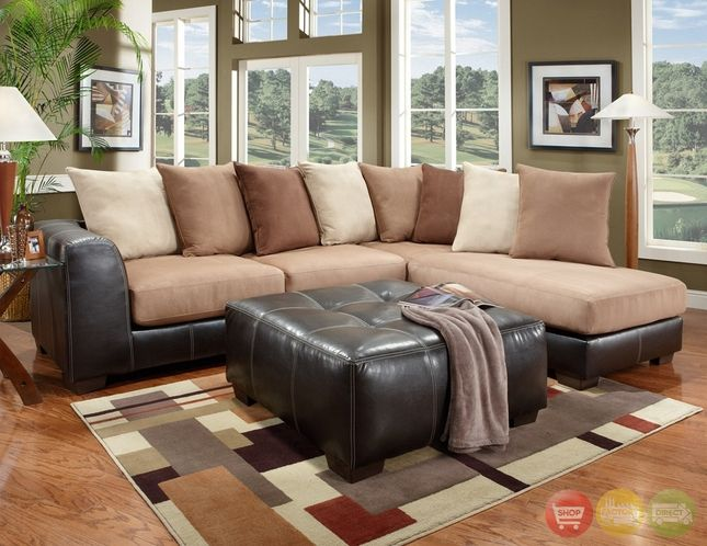 Sea Rider Beige Brown Sectional Sofa Loose Pillow Back Sectional Sofa Couches Living Room Sectional Brown Sectional Sofa