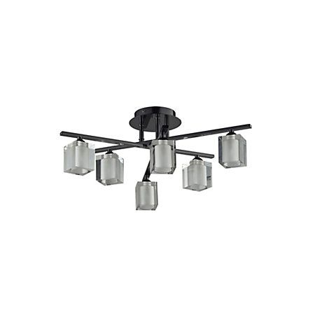 Narran cubic black nickel effect 6 lamp ceiling light ceiling narran cubic black nickel effect 6 lamp ceiling light aloadofball Image collections