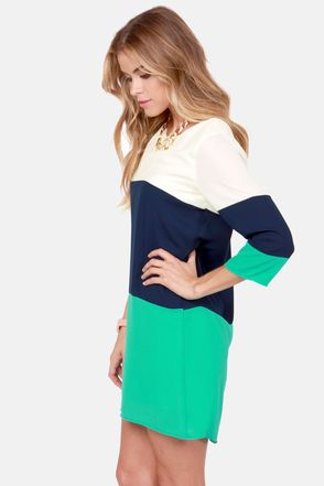 Cute Color Block Dress  -  Has colorblock and shift by The Style Genome Project