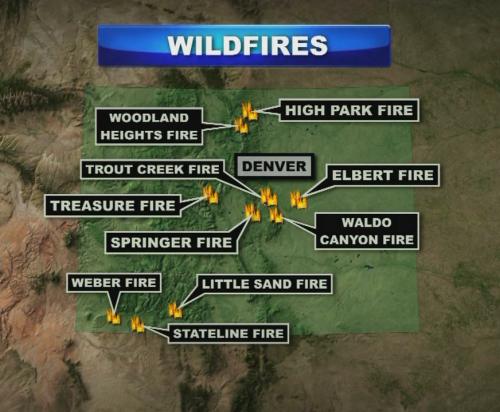 Colorado Wildfire Map June 2012 Colorado Pinterest