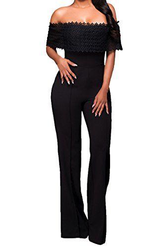 31c10b671047 Value Design Womens Fashion Off Shoulder High Waist Wide Leg Long Pants  Rompers Jumpsuits Bodycon Jumpsuit