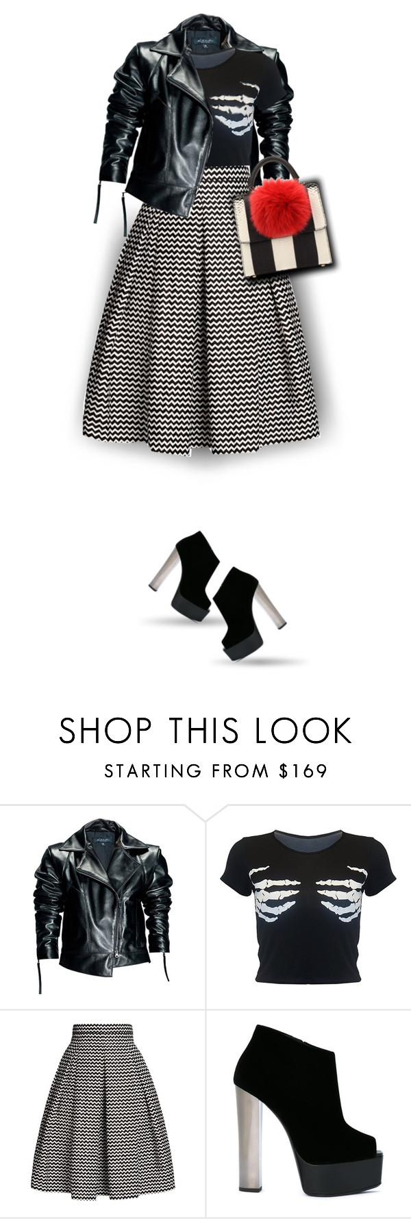 """""""Skirt and Boots"""" by amymrbll ❤ liked on Polyvore featuring Leka, Rumour London, Giuseppe Zanotti and Les Petits Joueurs"""