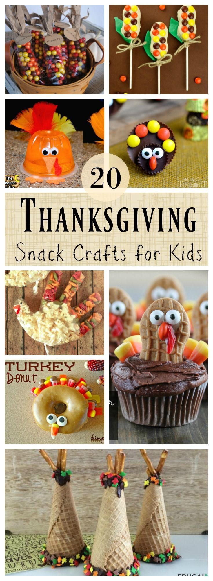 20 Fun and Deeee lish Thanksgiving themed crafts