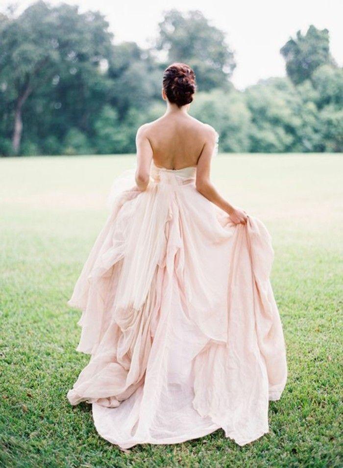 rückenfrei brautkleid rosa farbe   Hochzeit   Pinterest