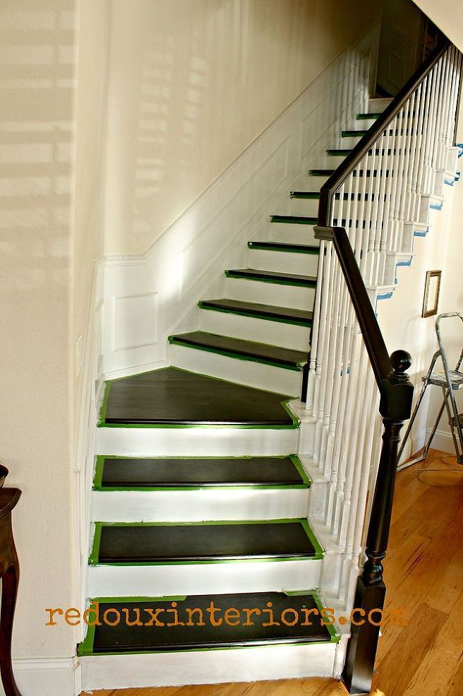 Ordinaire How To Paint A Staircase Black And White With All The Details! :: Hometalk