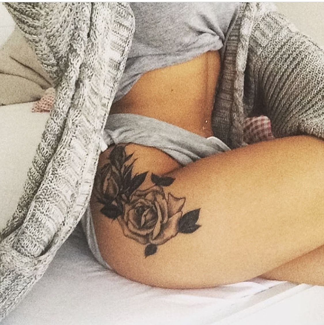 Roses thigh tattoo                                                                                                                                                                                 More