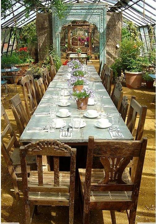 This Space Is Amazing Beautiful Greenhouse Outdoor Dining