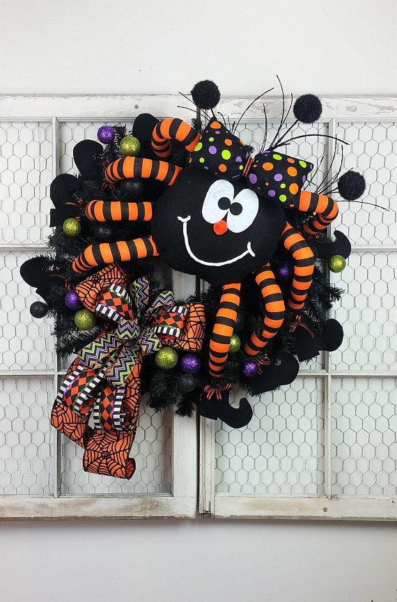 halloween wreath for front door xxl spider halloween wreath halloween wreath spider wreath kids halloween wreath halloween decor halloween