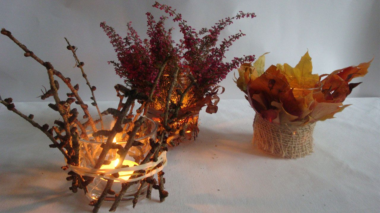 Herbstdeko Kann Man Besonders Gut Basteln Mit Kinder Um Ihre Kreativität Ausdauer Und Den Blick Für S Schöne Zu Schärfen