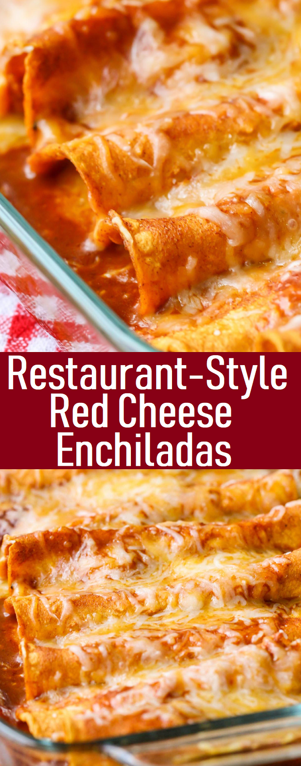 Photo of Restaurant-Style Red Cheese Enchiladas