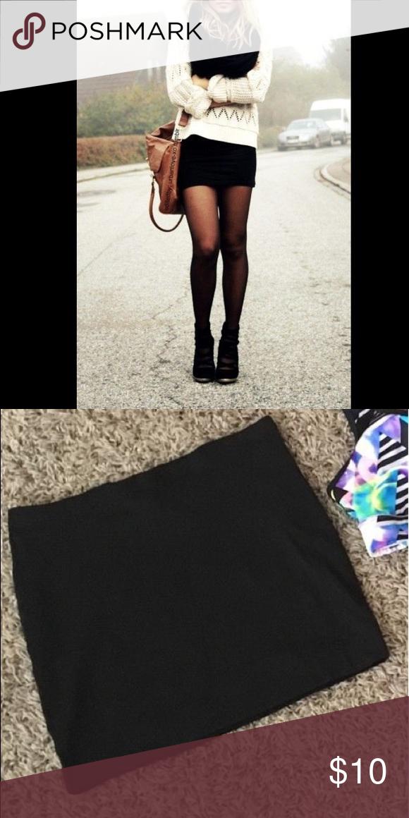 Black mini skirt Black knit mini skirt Skirts Mini