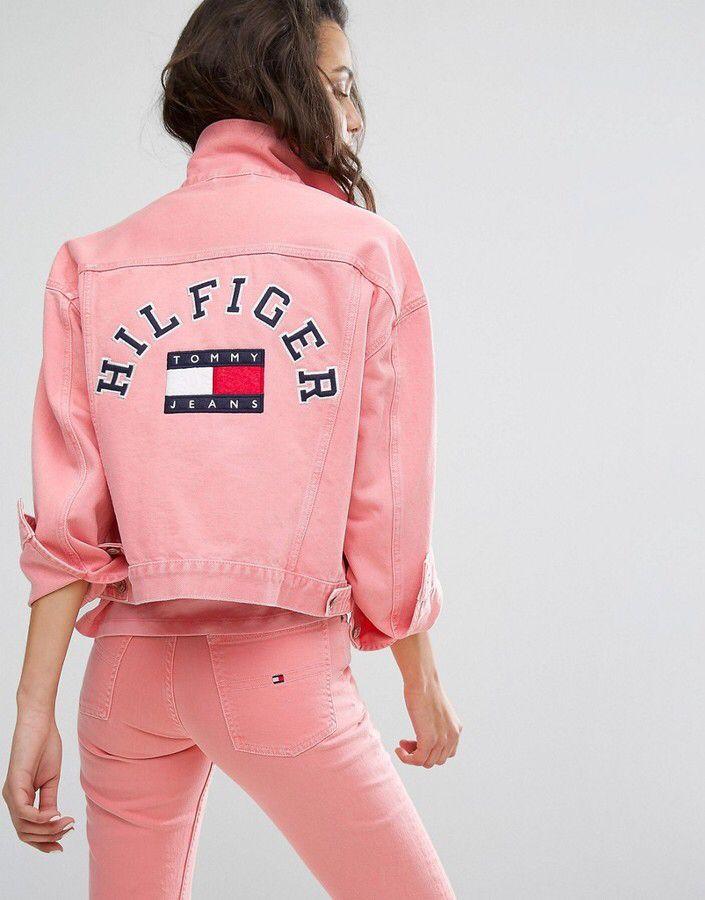 Tommy Jeans 90 S Girlfriend Trucker Jacket Denim Jacket Women Tommy Hilfiger Outfit Tommy Jeans