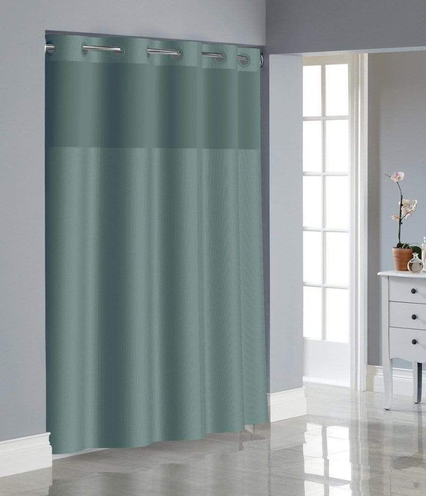 Hookless Dobby Texture Shower Curtain In 2020 Hookless Shower